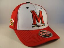 b87edcd615ac7 Maryland Terrapins NCAA Zephyr Snapback Hat Cap White Red