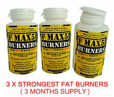 90 MAX5 FAT BURNERS CAPSULES - STRONGEST LEGAL SLIMMING DIET WEIGHT LOSS PILLS