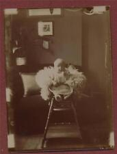 1900 Baby high chair inside house   antique  photograph  f201