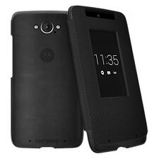 Motorola Flip Leather Soft Smart Cover Case fo DROID Turbo Black Ballistic Nylon