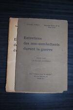 Entretiens des non combattants durant la guerre - 1916