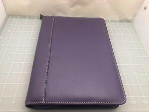Judd's Very Nice Purple Leather Levenger Notepad Holder