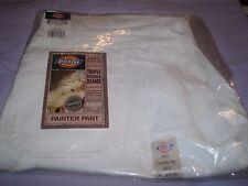 White Dickies 44 X 32 Reg Painter Pants Cotton Wide Tool Cell Phone Pockets NIP