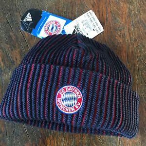 Bayern Munich Adidas Beanie Vintage Retro Hat. NEW. Unique