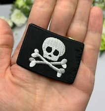 Pirate Flag Patch Skull Crossbones Iron on Sew On Boys Party Favor Clothing Bag