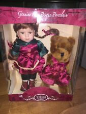 Collectors Choice Porcelain Doll With Bear New In Package