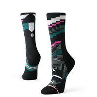 Stance Women's Corramos Crew Running Socks - Black Multicolor