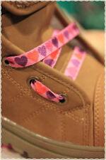 Coppia Stringhe per scarpe colori Fashion ROSA CON CUORI 115 cm * shoes strings
