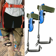 2 Gears Treepole Climbing Spike Set Safety Belt Lanyard Rope With Carabiner Steel