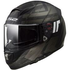 LS2 Citation Hunter Full Face Street Motorcycle Helmet Matte Black Grey Large
