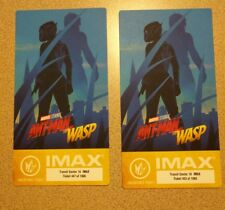 Marvel ANT-MAN AND THE WASP Regal IMAX Collectible Ticket x 2 FREE SHIPPING