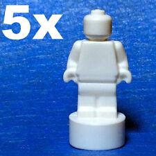 NEW LEGO - MicroFig - Plain - statue - White x 5 - statuette Trophy micro 71043