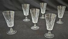 More details for vintage lead crystal short stem wine glasses set of 6 14.5 cm tall    sh30