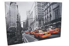 Leinwandbild New York Skyline 60x40cm Bilder grau orange schwarz weiß Keilrahmen