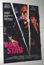 BACK STAB movie poster 1990 murder mystery JAMES BROLIN Meg FOSTER