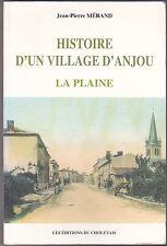 Histoire d'un village d'Anjou La Plaine Jean-Pierre MERAND