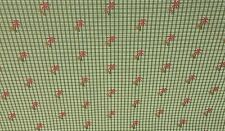 DURALEE PALM TREE PLAID GREEN JACQUARD FURNITURE CURTAIN FABRIC BY THE YARD