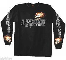 T-Shirt ML LIVE FREE SKULL - Taille L - Style BIKER HARLEY