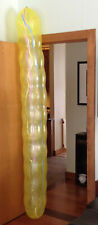 """Tilly 49 Worker Balloon Yellow 9 foot length by 12"""" diameter Striped & Stretched"""