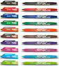 10 x Pilot Frixion Rollerball Pens Erasable 0.7mm Tip BL-FR7 - 10 Pens By Colour