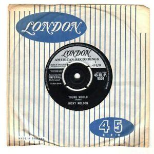"RICKY NELSON.YOUNG WORLD / SUMMERTIME.UK ORIG 7"" & CO/SL.EX"