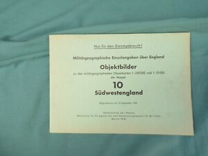 WW2 GERMAN LUFTWAFFE BOOK OF MILITARY TARGETS IN SOUTH WEST ENGLAND DATED 1941