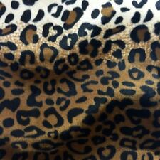 """Brown Leopard Velboa Faux Fur Fabric - Sold By The Yard - 58""""/ 60"""""""