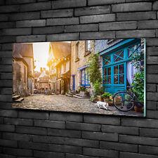 Glas-Bild Wandbilder Druck auf Glas 100x70 Sehenswürdigkeiten Reizende Gassen