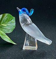 Lalique Pimlico Bird Figurine Head Up Signed, Authentic, Mint Condition, HTF