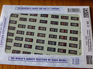 Microscale Decal G #29-2 ACI Plates (1967-1977) Water Slide Decal