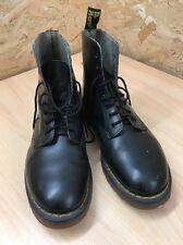 Dr Doc Martens Vintage Hawkins Size 9 Black Leather Boots Original Docs