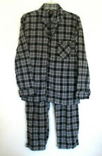 Men's Hanes Black, Red, and White Paid Pajama Set, Size M