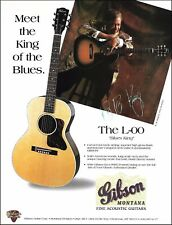 B.B. King Gibson Montana Blues King L-00 acoustic guitar ad 8 x 11 advertisement