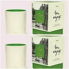 TWO NIB Kate Spade New York Bon Voyage Park Large Scented Candle 10 oz NEW 2