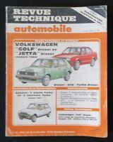 REVUE TECHNIQUE AUTOMOBILE RTA VOLKSWAGEN GOLF et JETTA diesel   n°453 1986