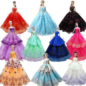 """Lace Fashion Doll Dress For 11.5"""" Doll Outfits Clothes Evening Gown Dresses 1/6"""