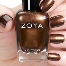 ZOYA ZP812 CINNAMON ~ metallic bronze shimmer nail polish ~ FLAIR Fall 2015 *NEW