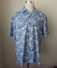Tommy Bahama men's size L Hawaiian Silk Shirt Short Sleeve LILLY POOL GARDEN