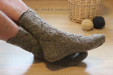 Hand knit hunter socks, eco 100% wool undyed wool socks ski boot socks