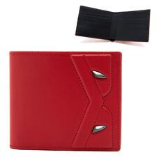 FENDI Wallet Red Calf Leather Mens Bifold BigBug 7M0169 A5F4 F156L Womens Auth