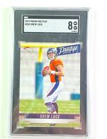 Drew Lock 2019 Panini Prestige Rookie Card SGC Graded 8 MT Denver Broncos