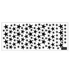 110Pcs Multi-sized Star Wall Stickers Baby Room Bedroom Decals Art Vinyl Decor