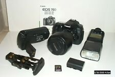 CANON EOS 70D 20.2MP DSLR BODY – LENS – GRIP – FLASH - BUNDLE