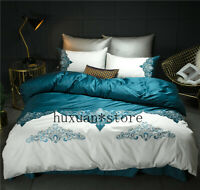 Luxury Egypt Cotton Sweet Memories Bedding Set Embroidery Duvet cover Bed Sheet