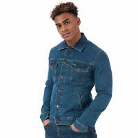 Mens Wrangler Regular Denim Jacket In Denim- Button Fastening- Button Pockets To