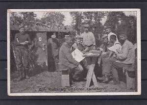 Feldpostkarte Ein Ruhetag unserer Landwehr gelaufen 1916 ANSEHEN