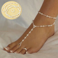 Fashion Barefoot Sandal Beach Pearl Charm Bracelet Foot Jewelry Anklet Chain New