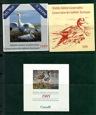3 Different MNH Federal Wildlife Conservation Booklets (Lot #WF28)