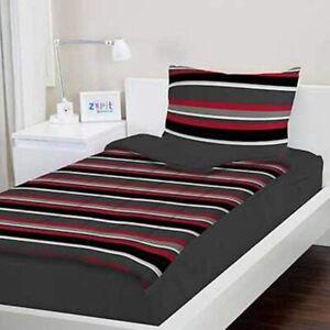"Zipit Bedding Set Full Size Grey Stripes 38""x74"""