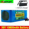 36V10AH Li-ion Battery Volt Rechargeable Bicycle 500W E Bike Electric + Charger